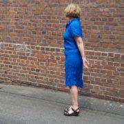 Knitterkleid in blau