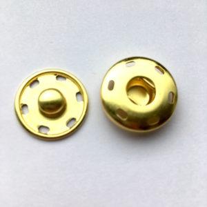 Druckknöpfe zum Annähen in gold