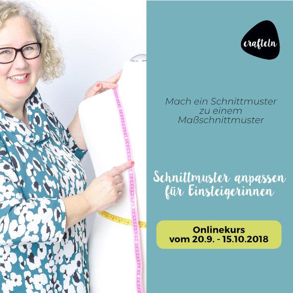 """Online-Kurs """"Schnittmuster anpassen für Einsteigerinnen"""""""