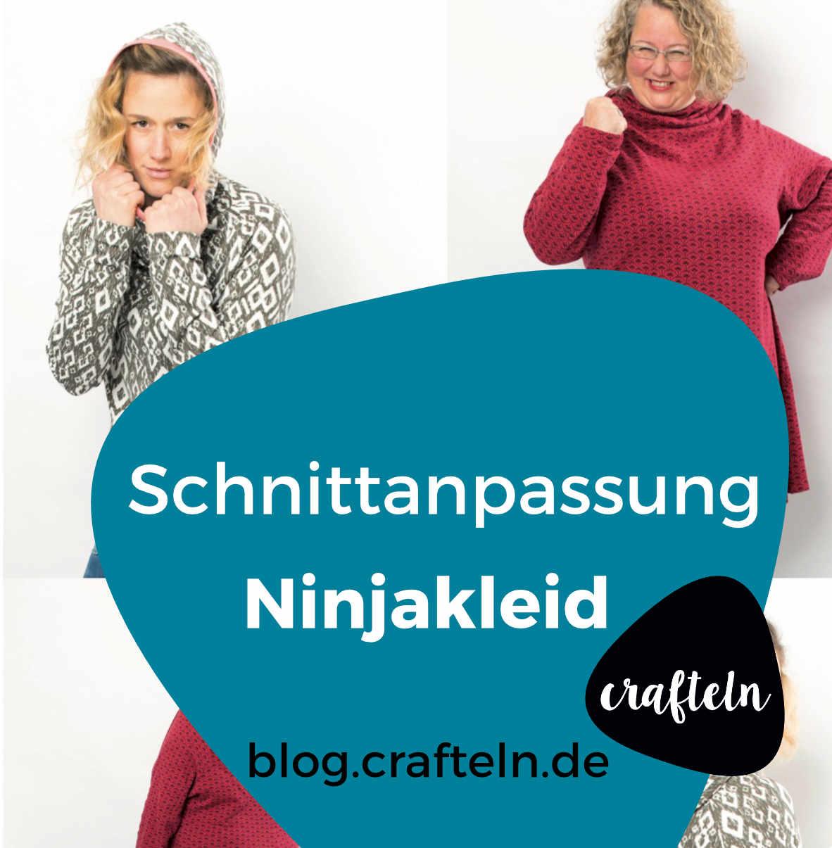 Schnittmusteranpassung für das Ninjakleid / Ninjashirt