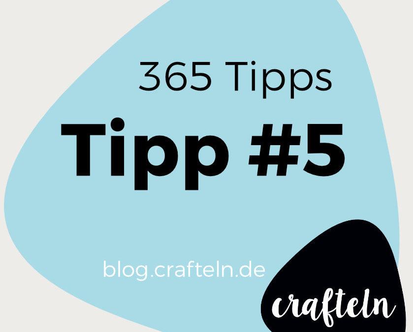 365-Tipps-Challenge – Tipp #5 Overlockfäden mit Fangnadel einziehen