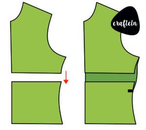 FBA für Shirts, Brustabnäher in Shirt einbauen, unsichtbarer Brustabnäher für Shirts