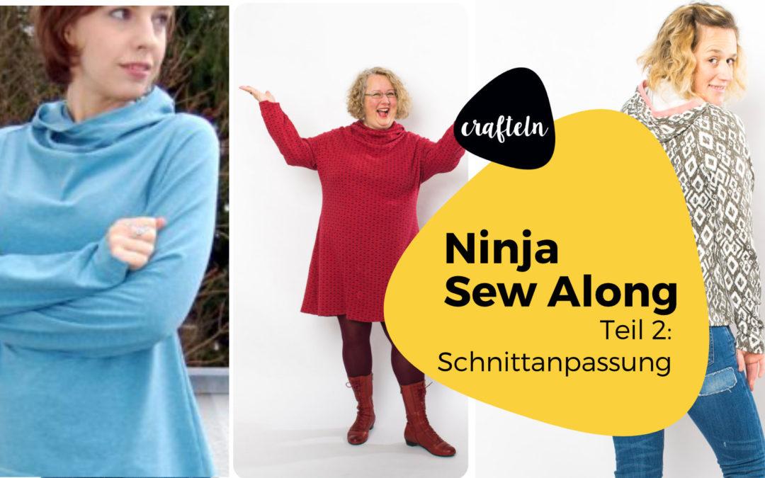 Ninja Schnittanpassung – Ninja Sew Along Teil 2